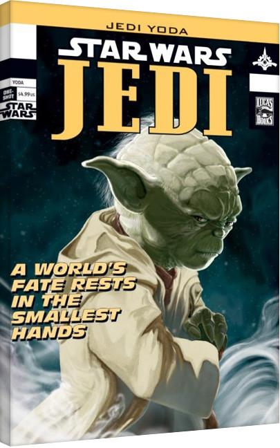Cuadros en Lienzo  Star Wars - Yoda Comic Cover