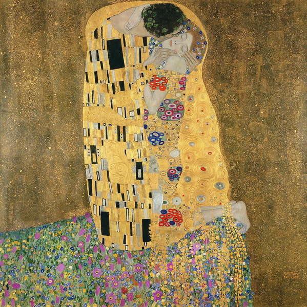 Pinturas sobre lienzo  The Kiss, 1907-08