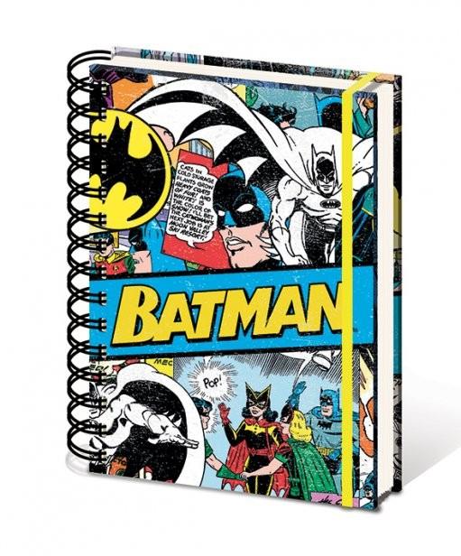 DC Comics A5 notebook - Batman Retro Písacie Potreby