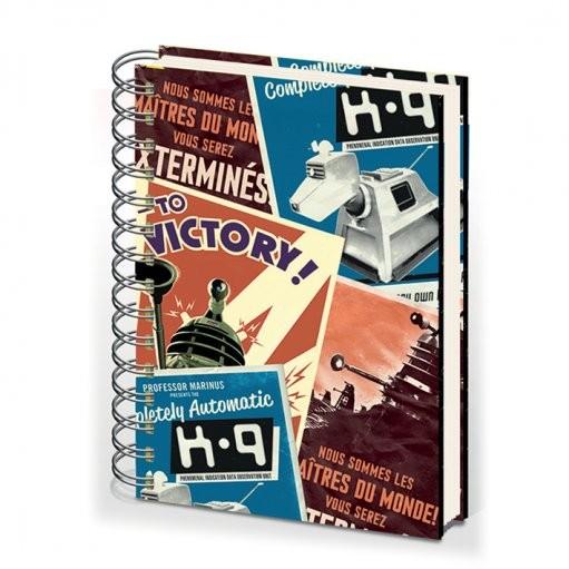 DOCTOR WHO - notebook A5 montage Písacie Potreby