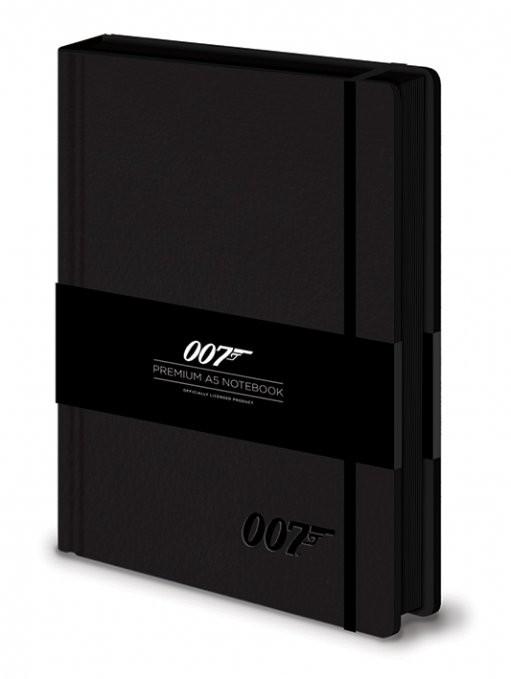James bond - 007 Logo  Premium A5 Notebook  Písacie Potreby