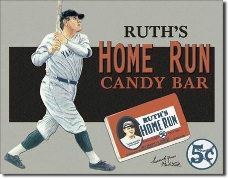 BABE RUTH - candy bar Placă metalică