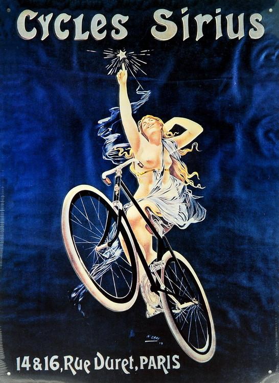 CYCLES SIRIUS Placă metalică