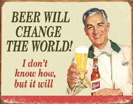 Placă metalică EPHEMERA - BEER - Change World