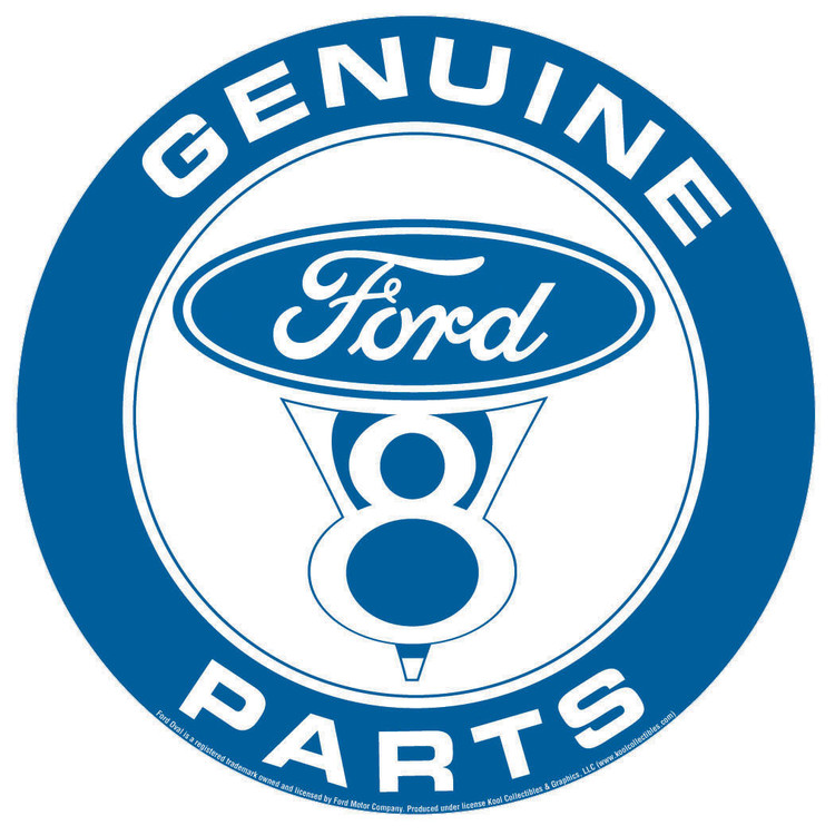 FORD PARTS Placă metalică