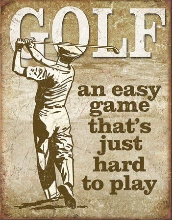 Golf - Easy Game Placă metalică