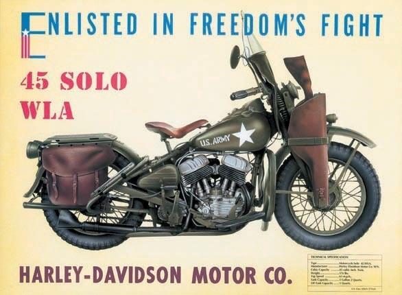 HARLEY DAVIDSON - W.L.A. Placă metalică