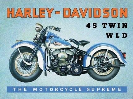 HARLEY DAVIDSON - W.L.D. Placă metalică