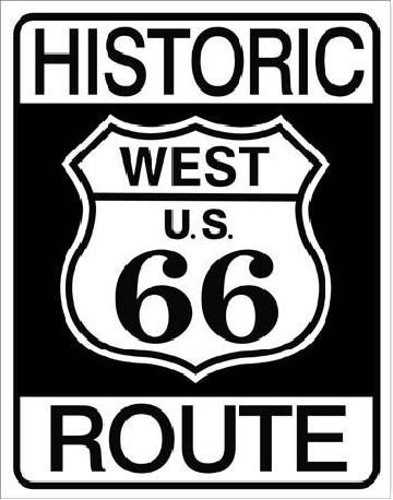 HISTORIC ROUTE 66 Placă metalică