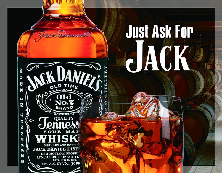 JACK DANIEL'S  ASK FOR JACK Placă metalică