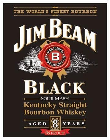 JIM BEAM - Black Label Placă metalică