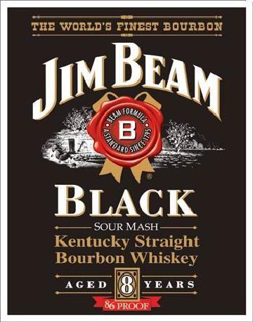 JIM BEAM - Black Label Placă metalică
