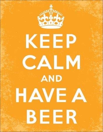 Keep Calm - Beer Placă metalică