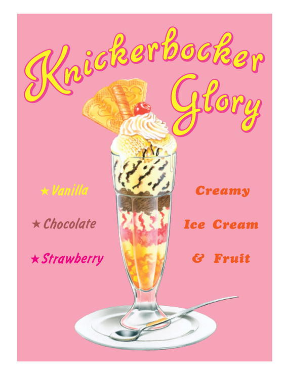 KNICKERBOCKER GLORY Placă metalică