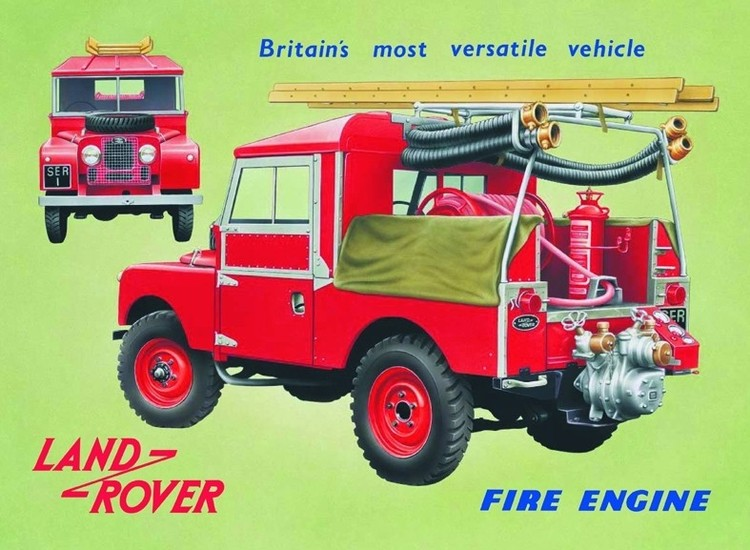 Land Rover fire engine Placă metalică
