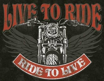 Placă metalică Live to Ride - Bike