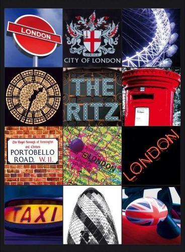 LONDON COLLAGE 2 Placă metalică