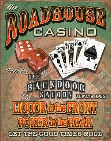 ROADHOUSE BAR & CASINO Placă metalică