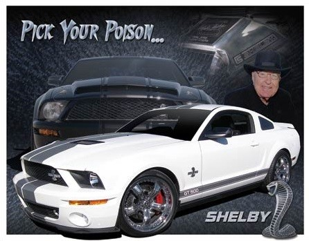 Shelby Mustang - You Pick Placă metalică