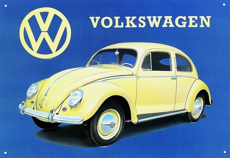 VW BEETLE Placă metalică