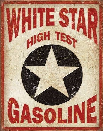 Placă metalică White Star Gasoline