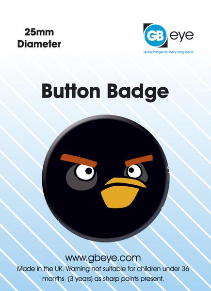 Odznak Angry Birds - Black Bird S.O.S