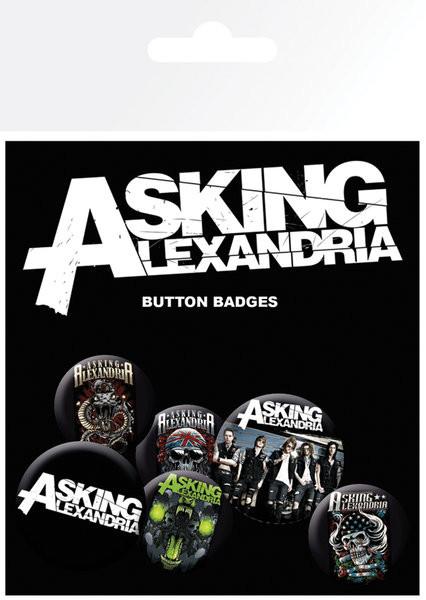Odznaky set Asking Alexandria - Graphics