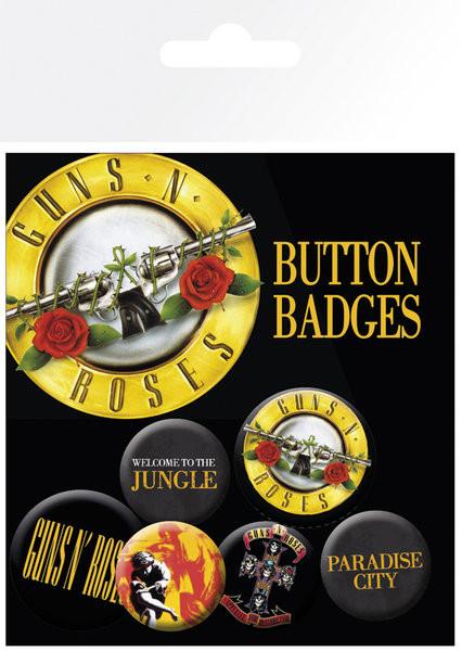 Odznaky set GUNS N ROSES