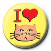 Odznak  I LOVE PUSSY
