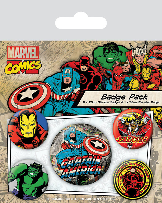 Plackový set Marvel Retro - Captain America