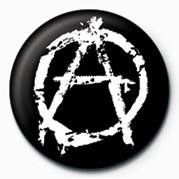 Odznak PUNK - ANARCHY - (WHITE)