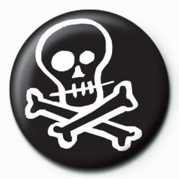 Placka Skull & Crossbones (B&W)