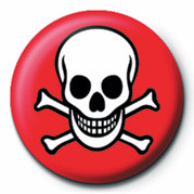 Odznak SKULL & CROSSBONES (RED &