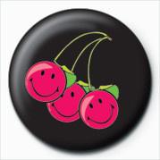 Placka SMILEY - CHERRIES