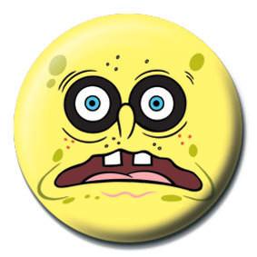 Odznak SPONGEBOB - čierne oči