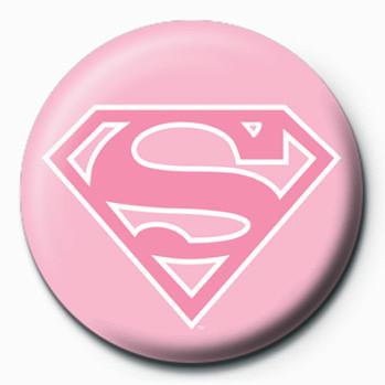 Placka SUPERMAN - logo/růžová