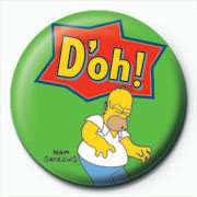 Odznak THE SIMPSONS - homer d'oh green