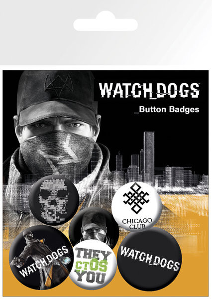Odznaky set Watch dogs – aiden