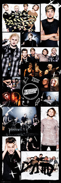 Plagát 5 Seconds Of Summer - Grid 2