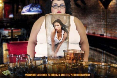 Plagát Alcohol Warning