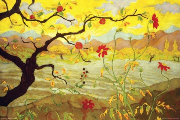 Plagát Apple Tree With Red Fruit - Paul Ranson