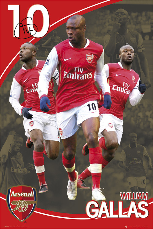 Plagát Arsenal - gallas 07/08