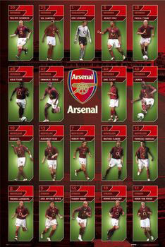 Plagát Arsenal - squad profiles 05/06