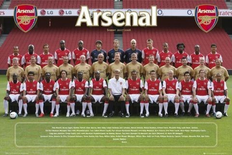 Plagát Arsenal - Team photo 07/08