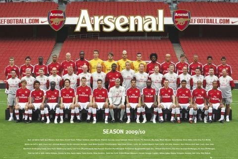 Plagát Arsenal - Team photo 09/10