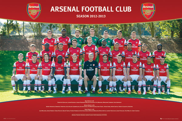 Plagát Arsenal - Team photo 12/13