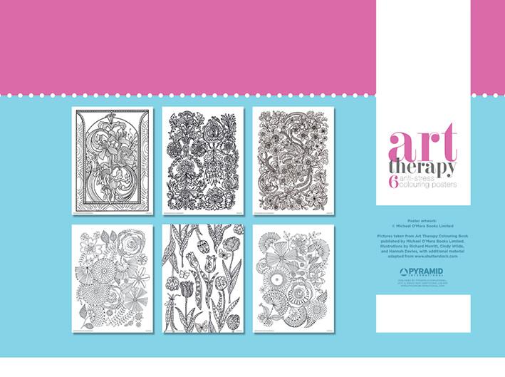 Plagát omaľovánka Art Therapy - Flower