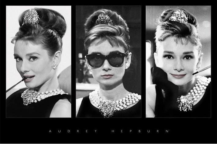 Plagát Audrey Hepburn - triptych