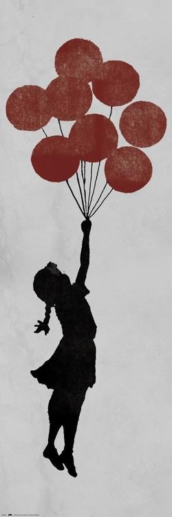 Plagát  Banksy - Girl Floating