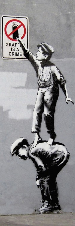 Plagát Banksy - Grafitti Is A Crime